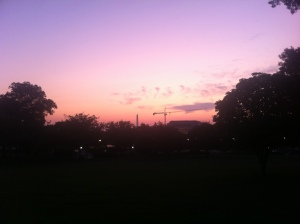 Sunset over the National Mall, September 2011