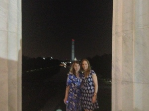 My friend Erin and me at the Lincoln Memorial