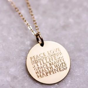 EricaSara Designs Custom Wish Necklace; Photo Credit: EricaSaraDesigns.com